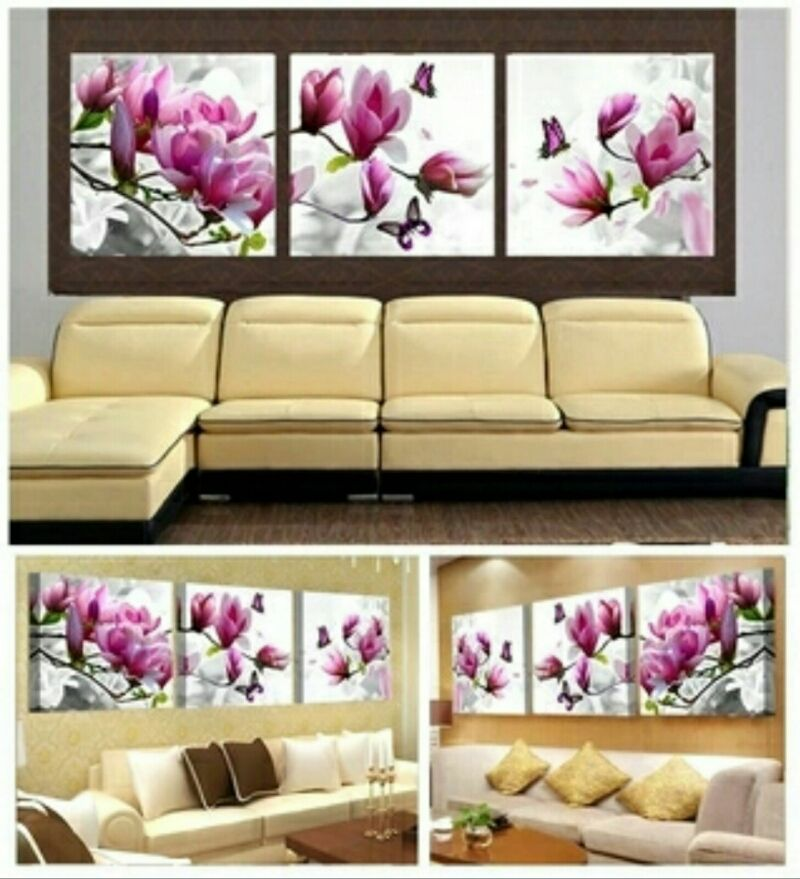 Pink Orchids 3 Piece Wall Art Collection Set | Flower types, Pink ...