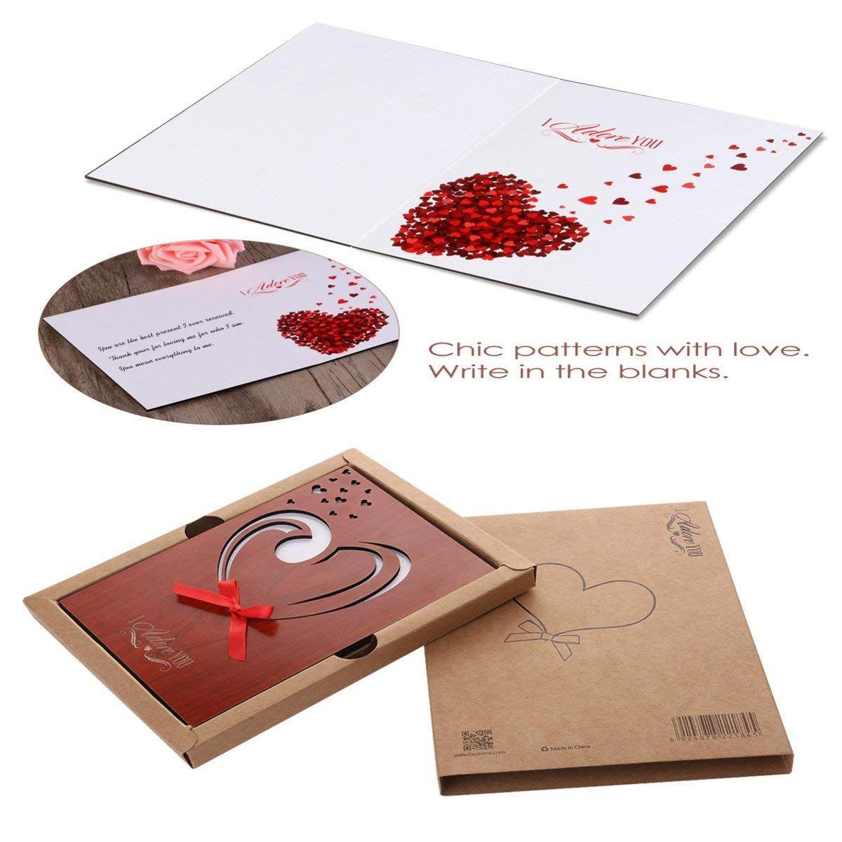 £7 99 unomor love card imitation wood greeting card for anniversariesbirthdays weddings