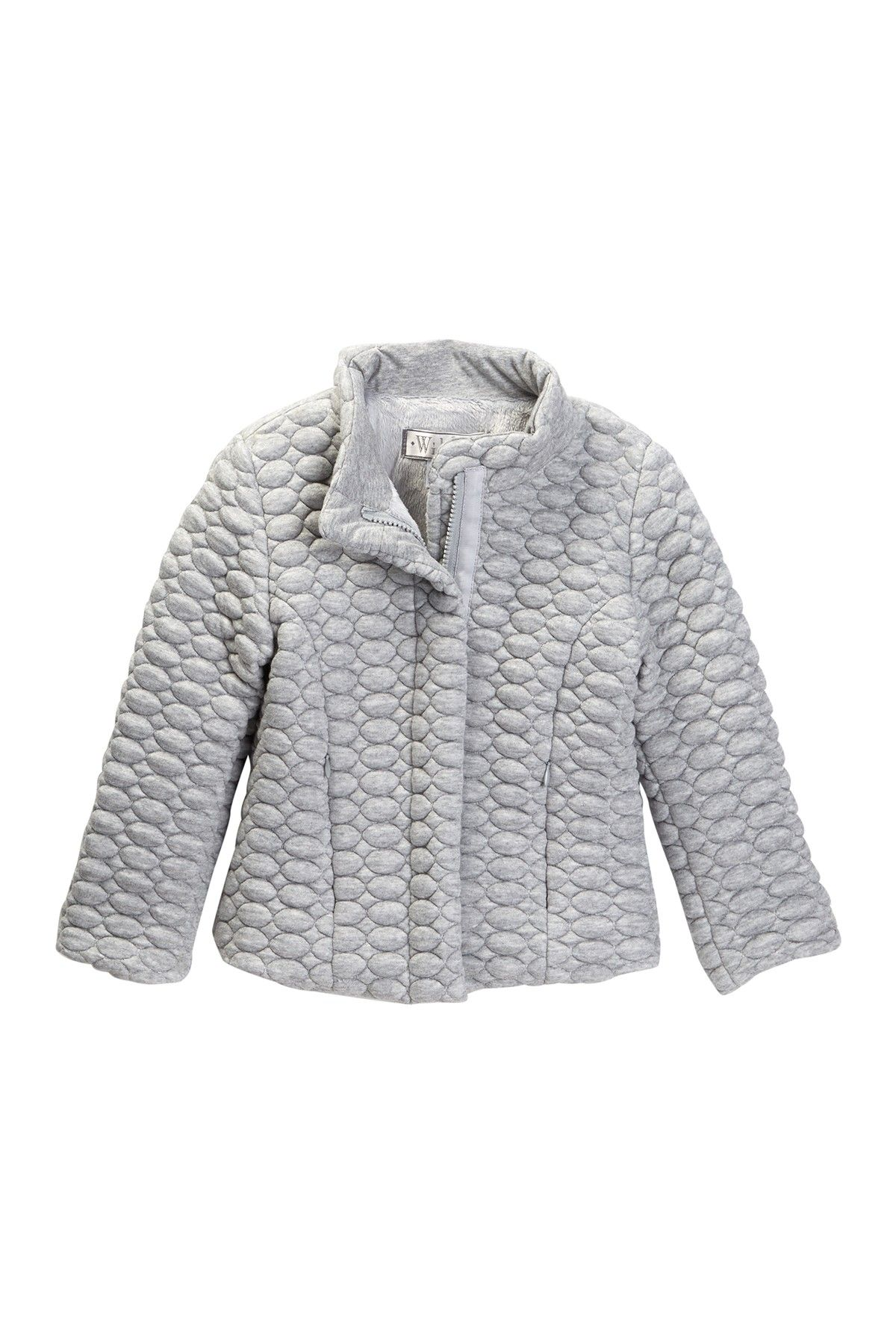 7e25069e3 Faux Fur Lined Zip Bubble Jacket (Little Girls)