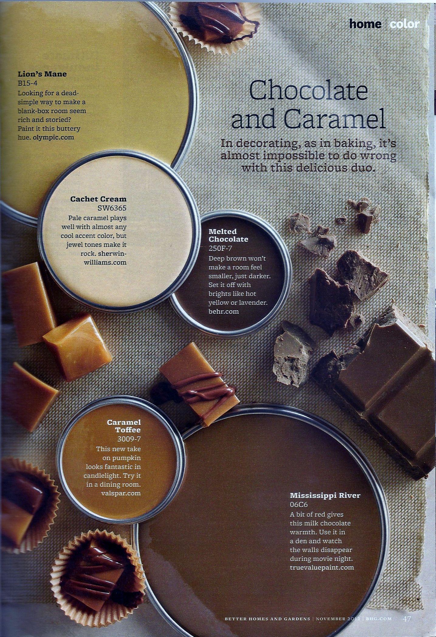 Best Chocolate Caramel Paint Colors Paint Color Schemes 400 x 300