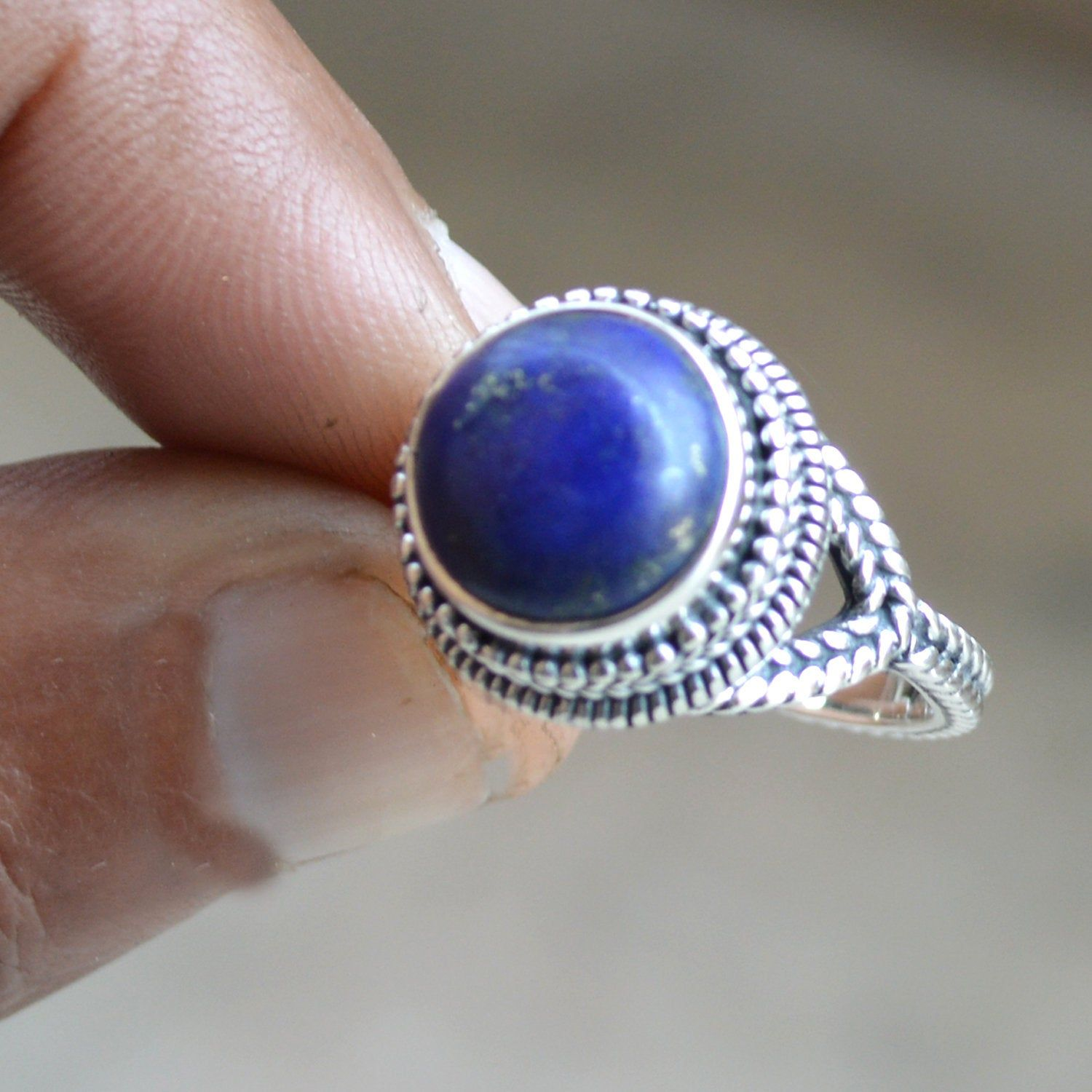 Lapis Lazuli Ring 92.5/% solid sterling silver ring handmade ring sterling silver ring