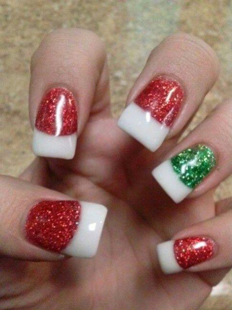 Cute Christmas Color Nail Art Design Ideas 14 Christmas Nails Christmas Nail Designs Nail Designs