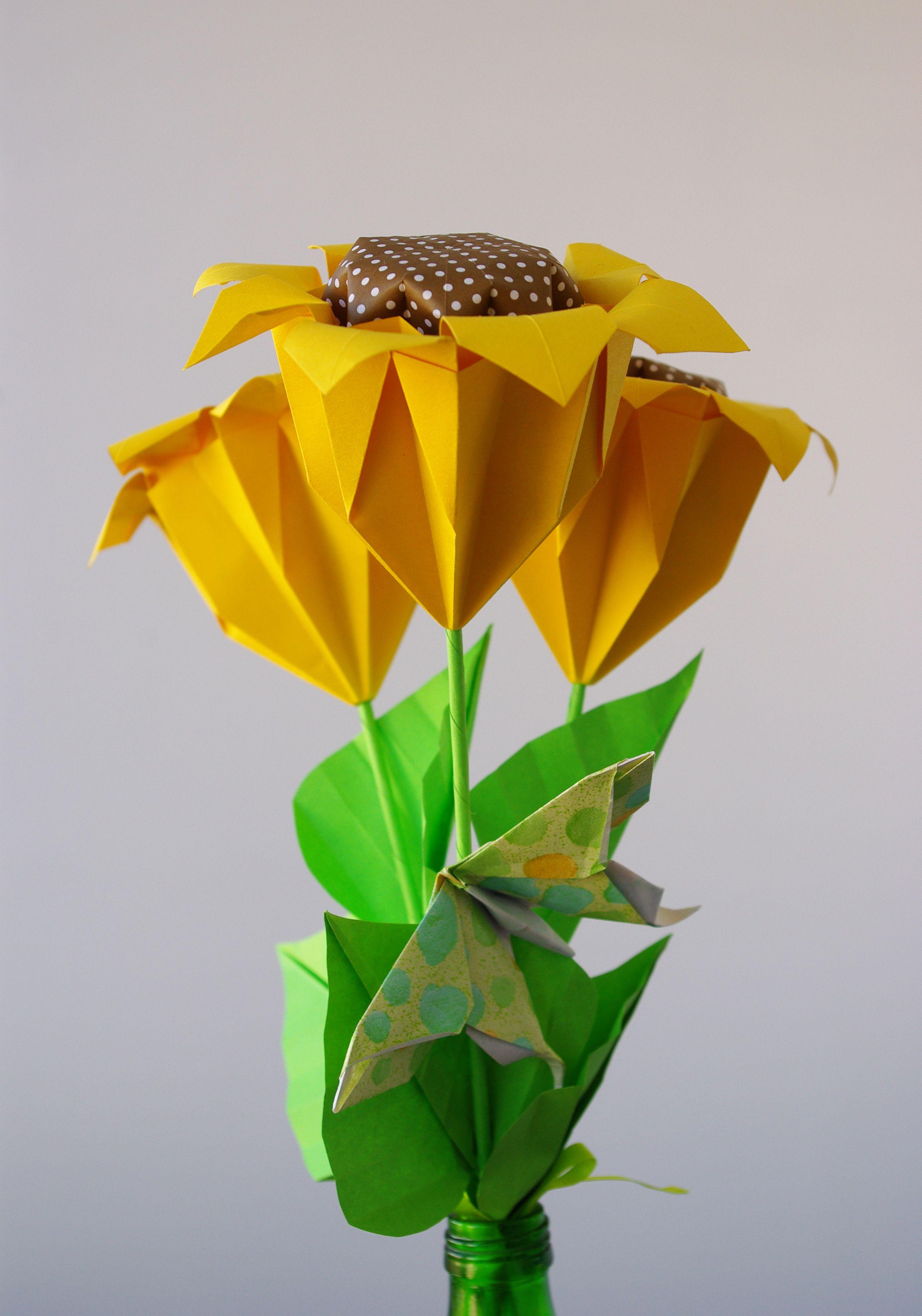 Sunflowers For My Mum Paper Folding Pinterest Sunflowers