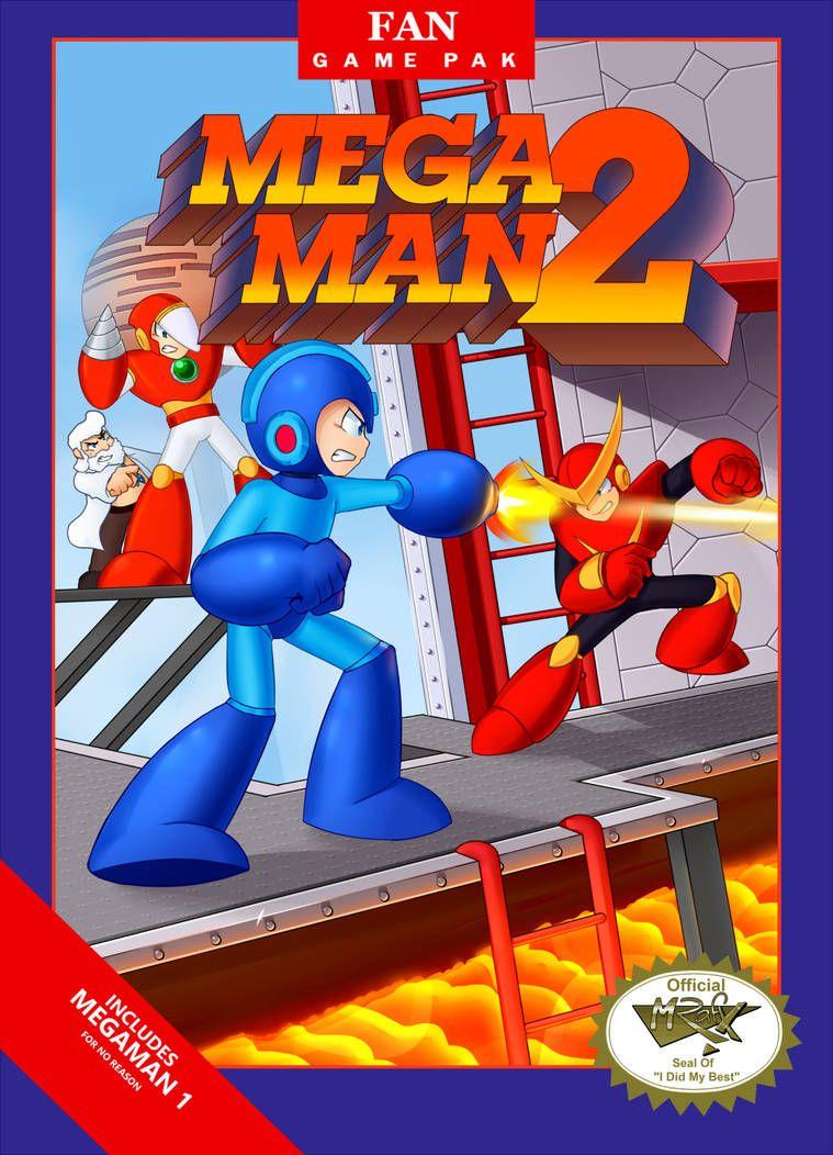 "Mega Man 2 Remake Box ""Includes Mega Man 1 for no reason"