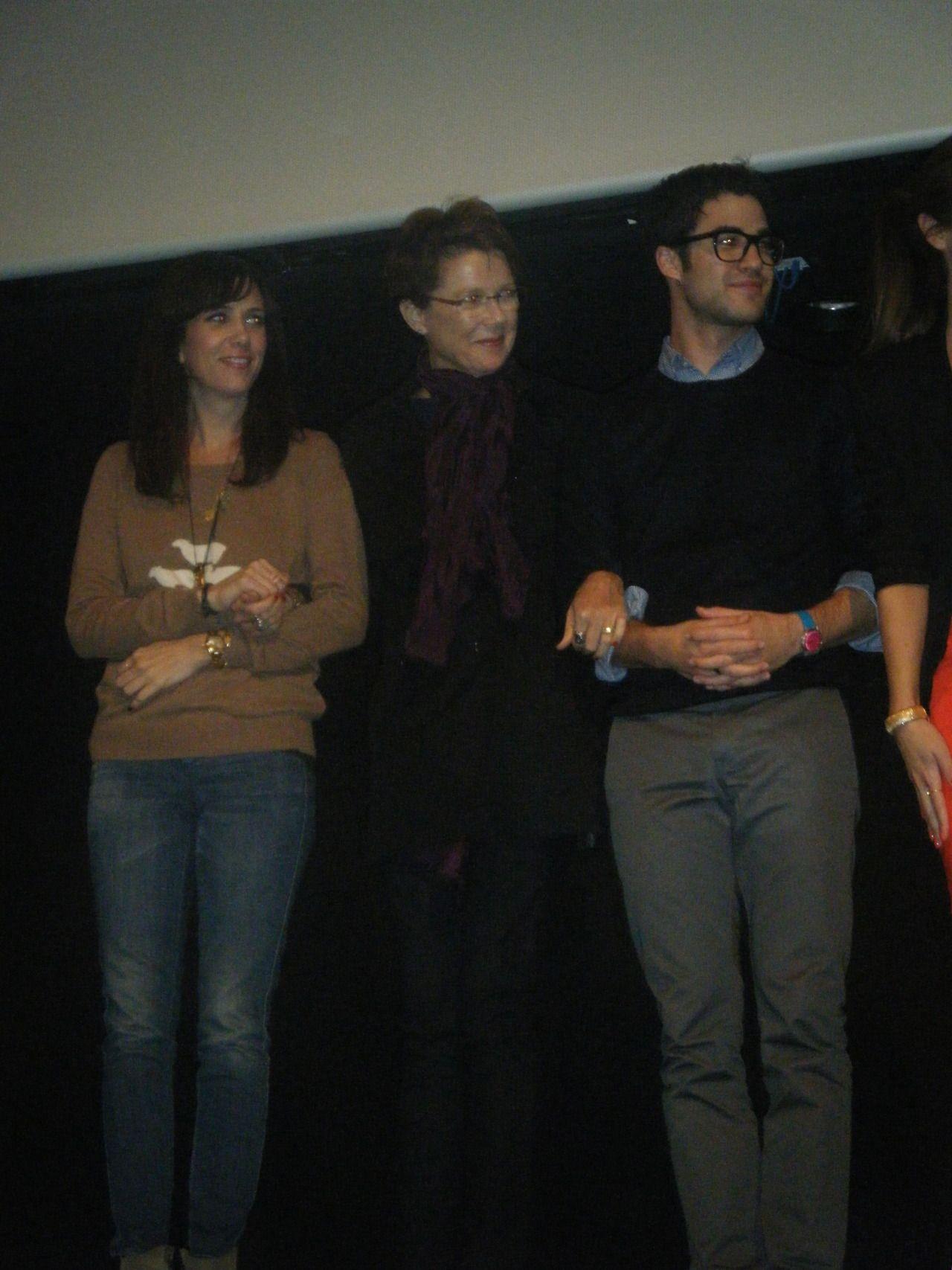 Darren, Annette Bening, and Kristen Wiig at the Imogene screening at TIFF in Toronto on Sept. 8th