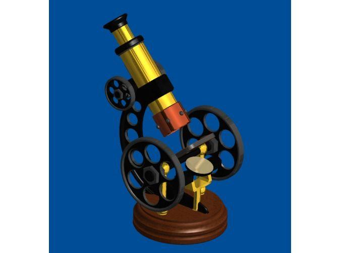 Barbie sized! Steampunk 1/6 Scale Microscope, 1:6 Scale by Desert_Rat