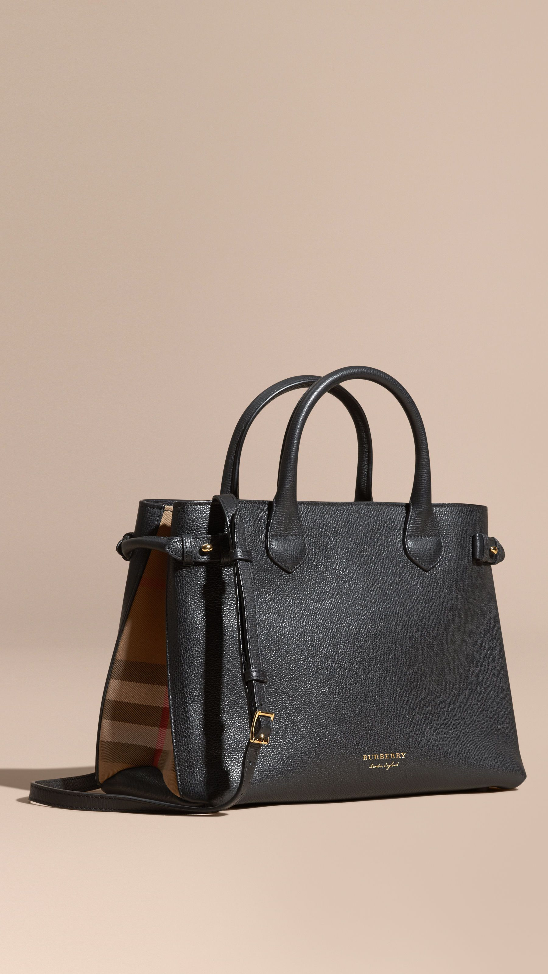 c758a275abe6 Burberry The Medium Banner in Leather and House Check