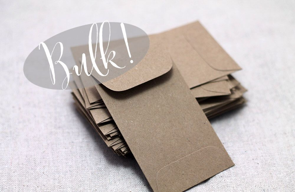 Bulk 100 Mini Kraft Seed Packet Envelopes For Seed Packet Wedding