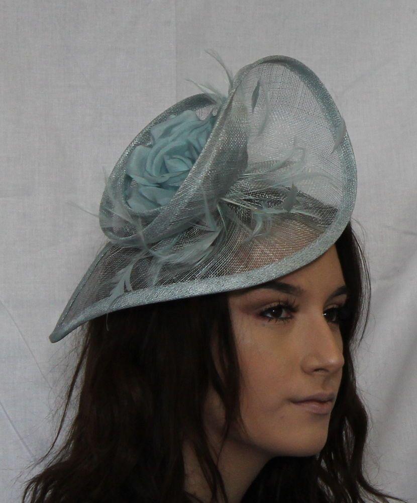 Large Bow Fischer UK Design Fascinator Hatinator on headband Hair band Navy
