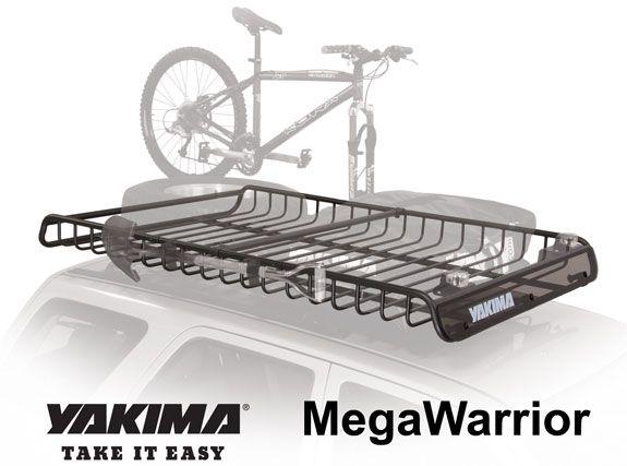 yakima megawarrior roof cargo basket  truck roof basket roof rack van accessories