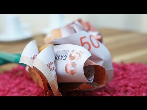 Geldscheine Falten Rose Geldgeschenk Zur Hochzeit Diy Origami