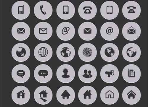 23 Free Contact Icons Useful For Website Design Icones Cv Pictogramme Picto