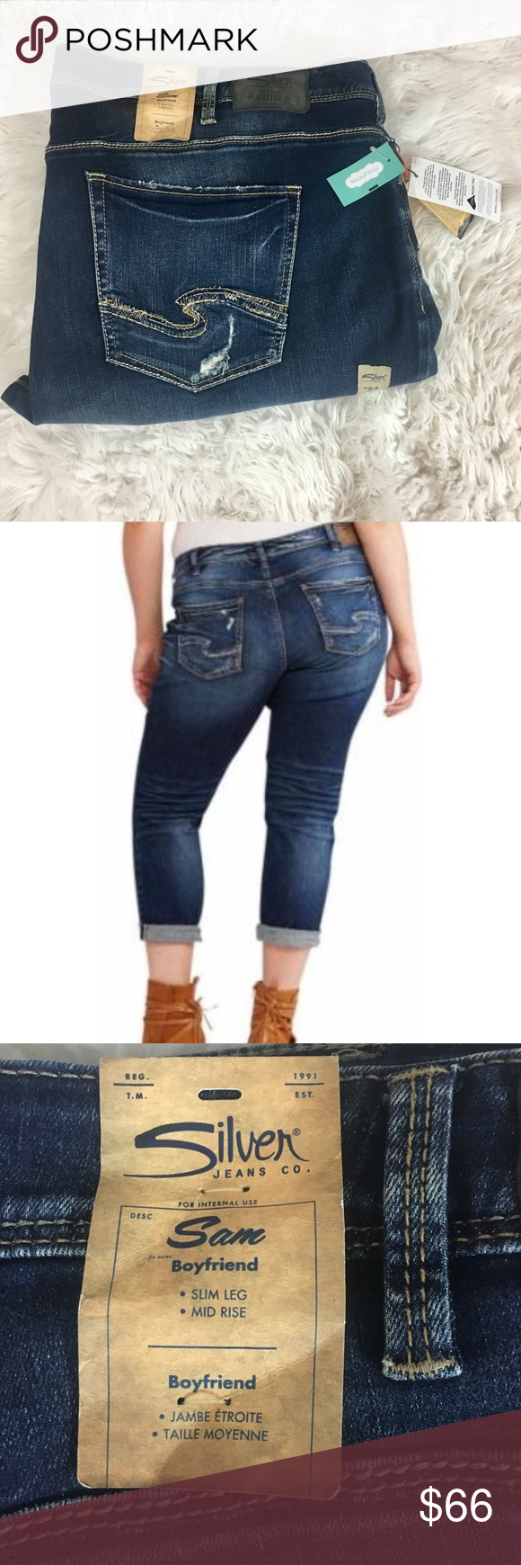 d29c642b0ab New silver jeans plus size 24 Brand new with tags Silver Jeans plus size 24.
