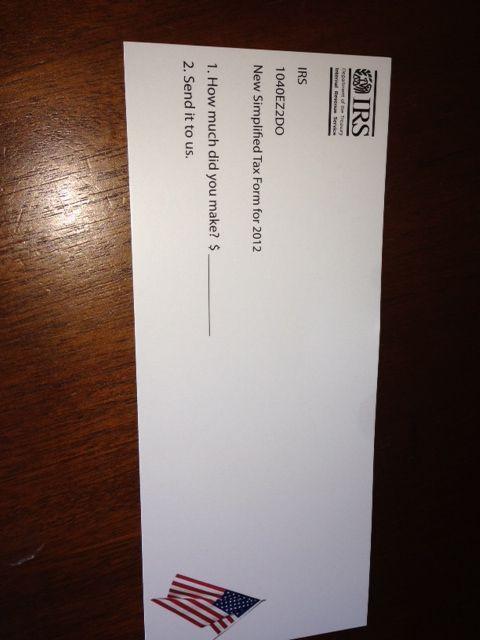 New Simplified Tax Form Tax Humor Pinterest Taxes humor - tax form