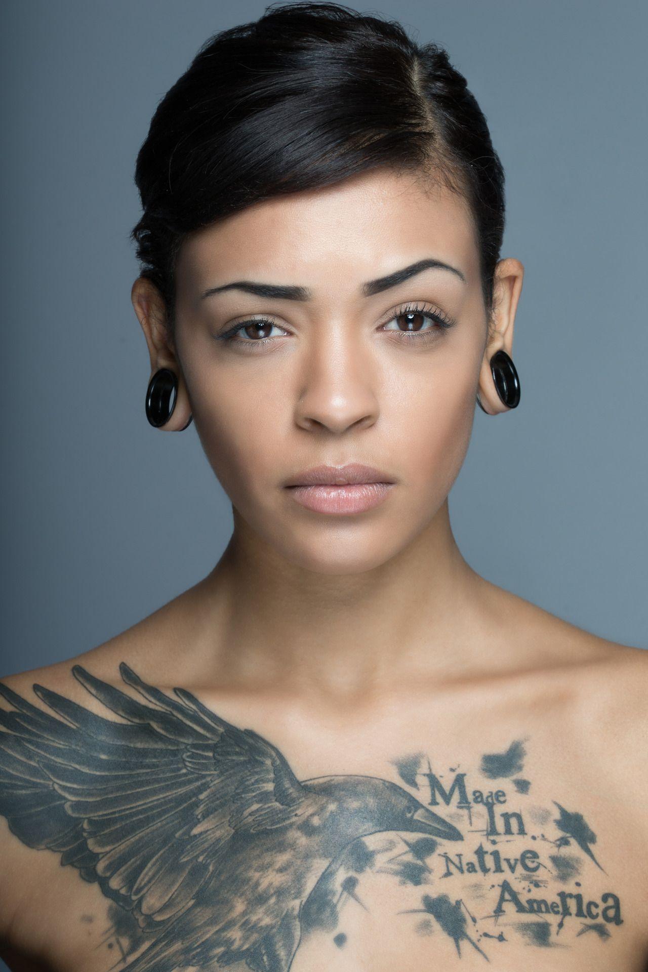 Chest tattoos for women image by Tara Yamry on ⓈtąƄ Ṃe