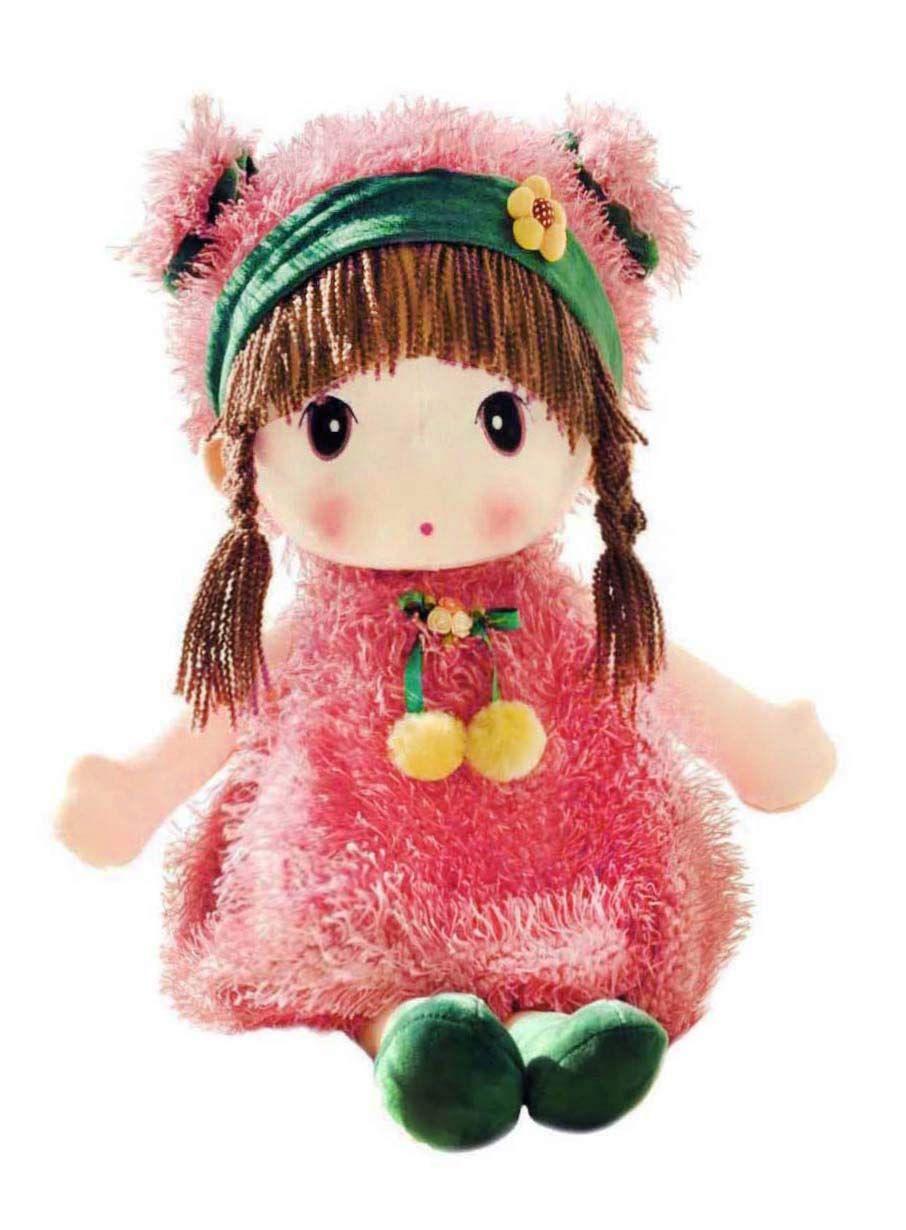 Hwd kawaii 17 inch stuffed plush girl toy doll good gift
