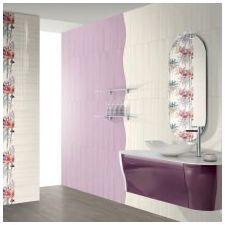 Diseñar baños lila: Ofrece la foto-17