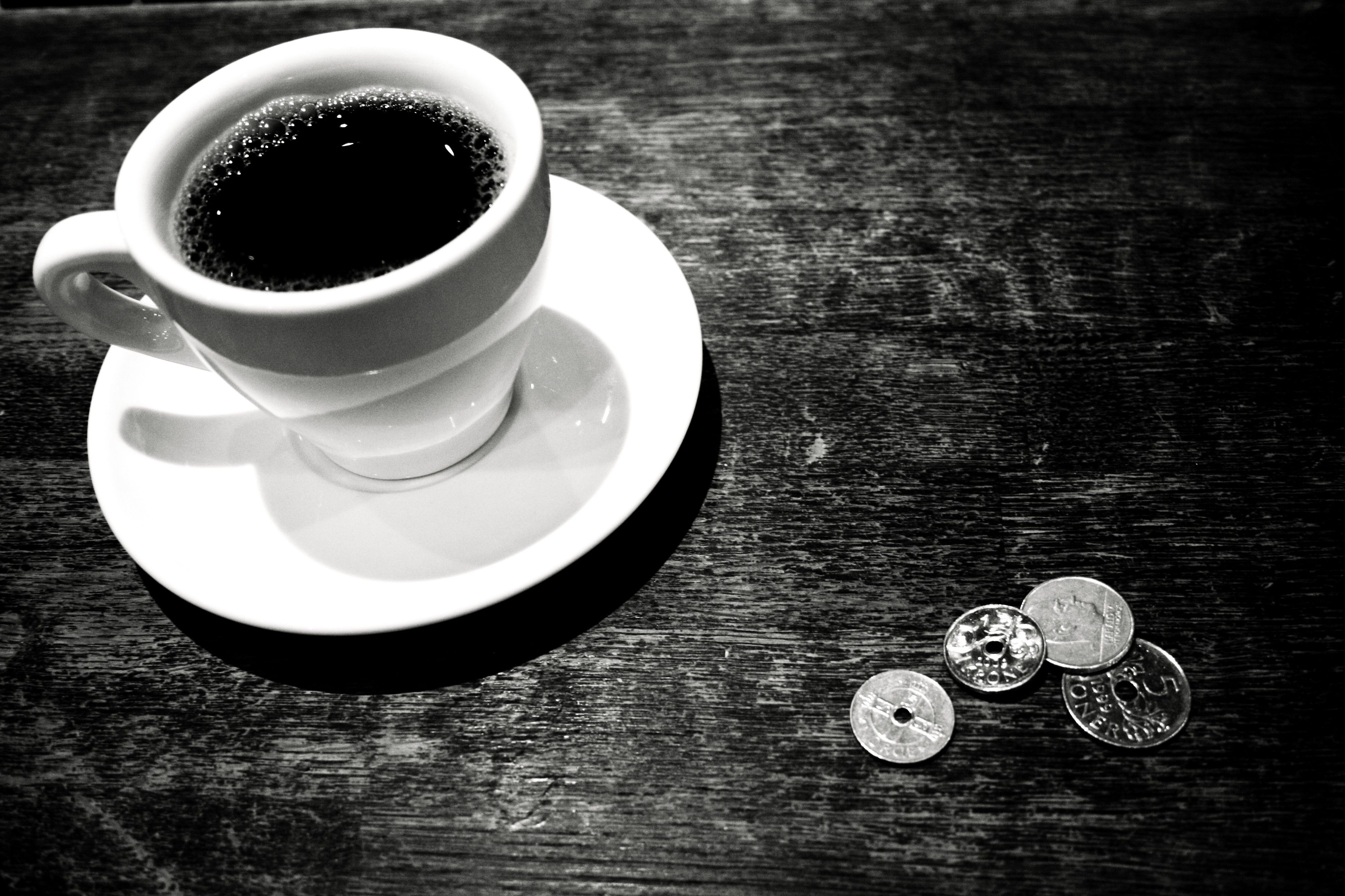 Coffee time black and white morning. Misc, Stuff