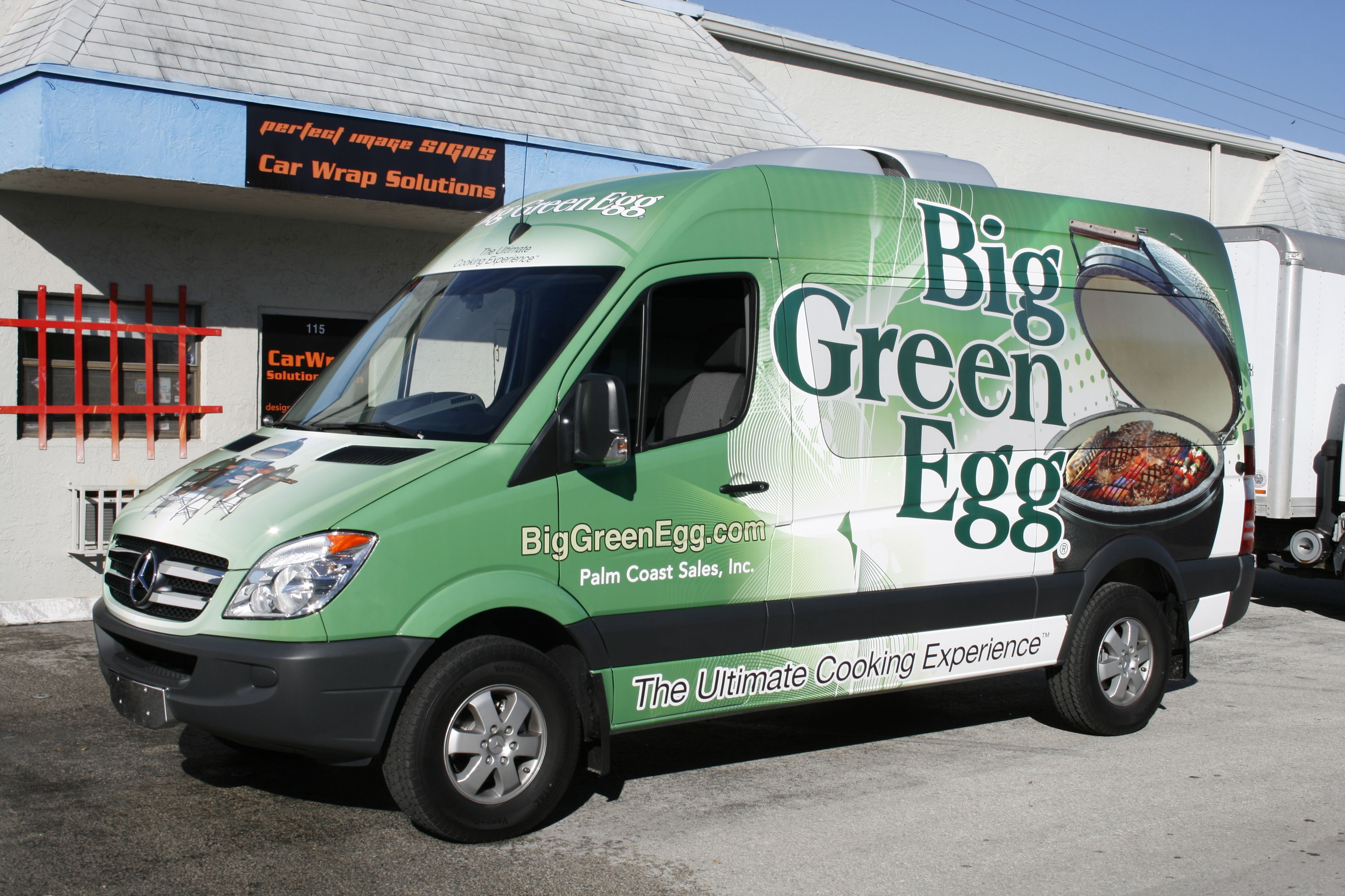 Mercedes benz sprinter van vehicle wrap for big green egg in jupiter florida http