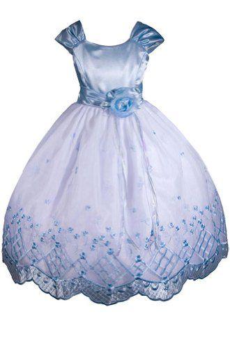 7535a8d51 AMJ Dresses Inc Girls Sky Blue Flower Girl Wedding « StoreBreak.com ...