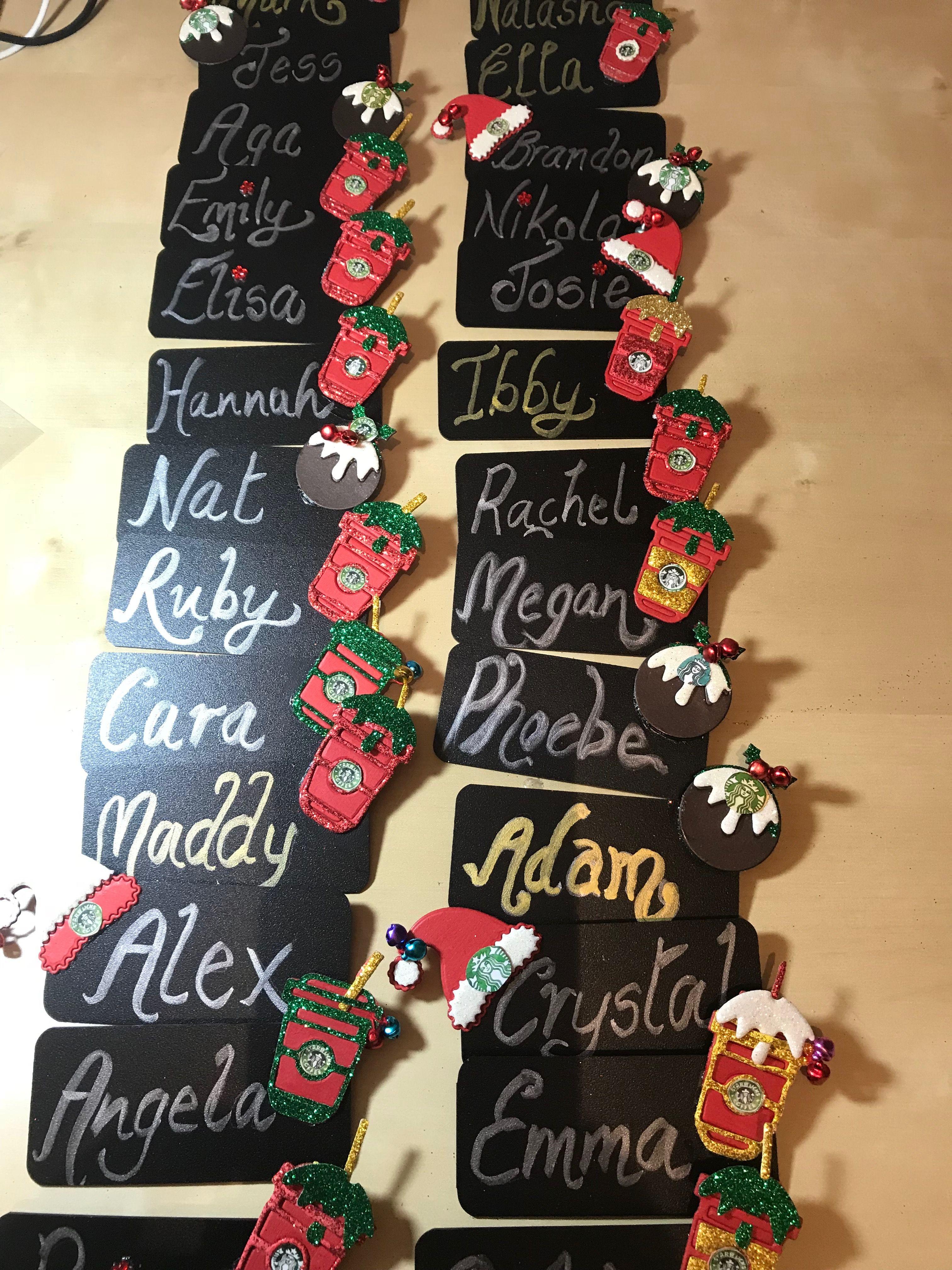 starbucks partner christmas name badges name badges luggage