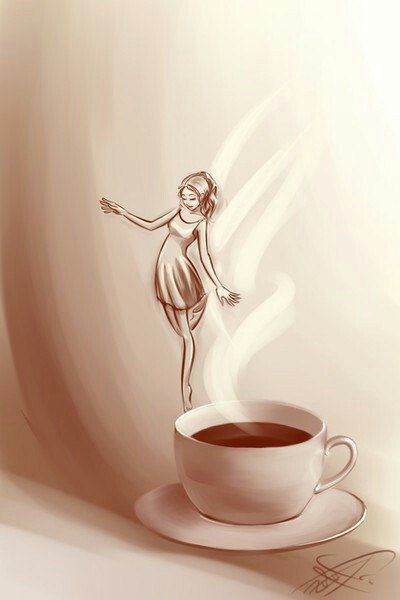 Pin By Raining Tree Arts On Color Images Coffee Drawing Coffee Illustration Coffee Art