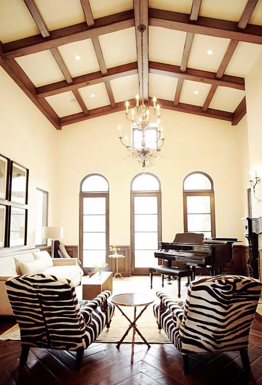 20 Living Spaces With Zebra Print Accents  Animal Print Rooms Enchanting Zebra Dining Room Chairs 2018