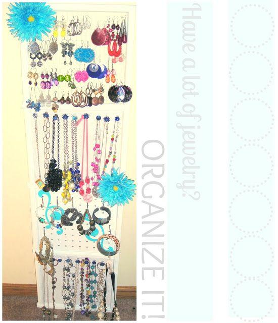 Make Jewelry Organizer from Grid Guest Post Organizing Jewelry
