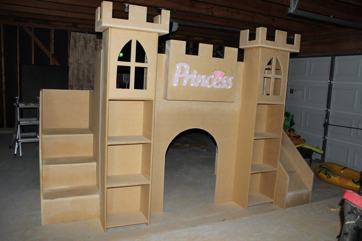 Castle Loft Bed with Stairs and Slide Castle bed