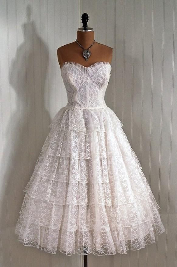 50s Wedding Lace Dress 789804
