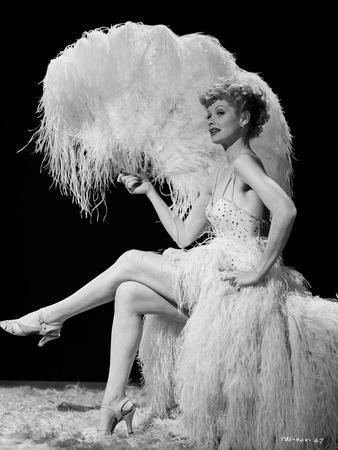 Lucille Ball Seated with Fan Photo by Movie Star N