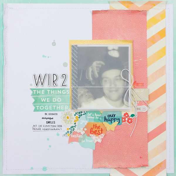 Creative Movie Maker Blog Hop: scrapbooking page with mini album by Janna Werner