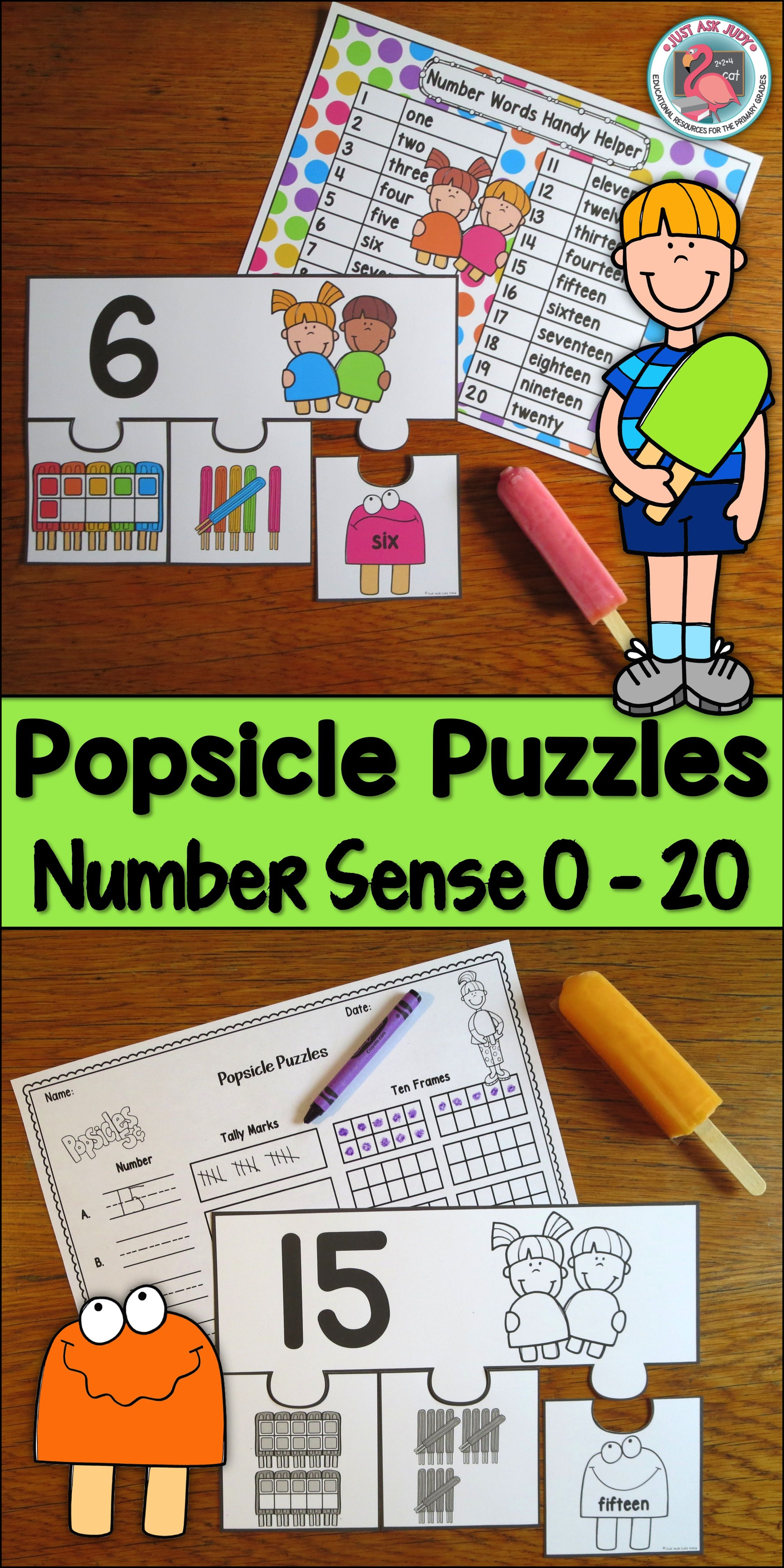 This number sense activity with a colorful popsicle theme is perfect ...