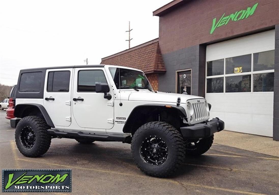White Jku Venom Motorsports Grand Rapids Mi Us 160240 Custom Jeep Jku Offroad Jeep