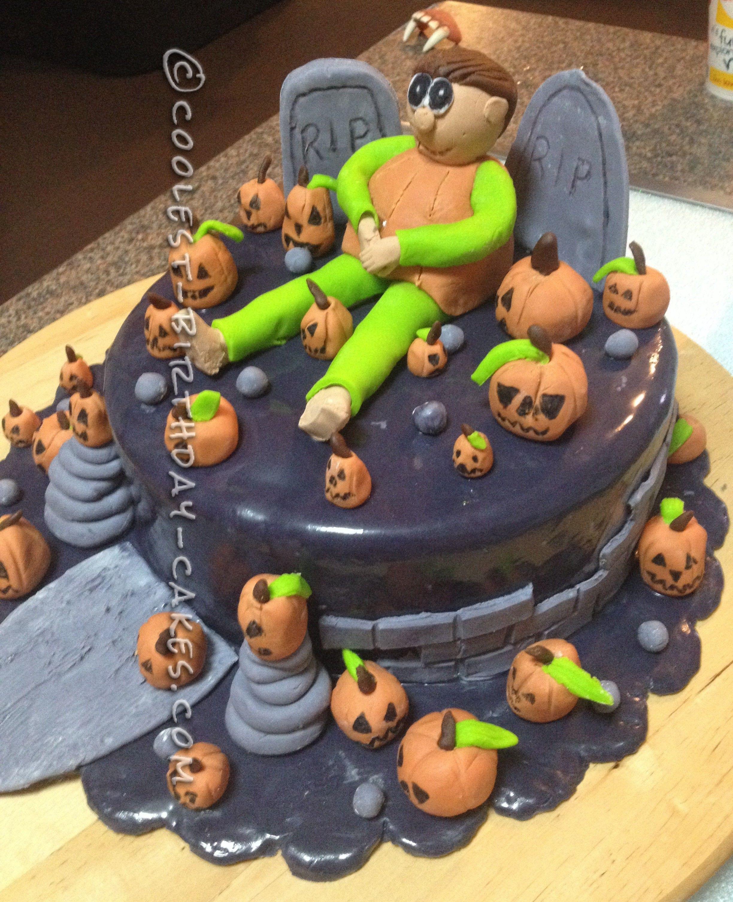 Last Minute Pumpkin Man Halloween Cake | Coolest Birthday Cakes ...