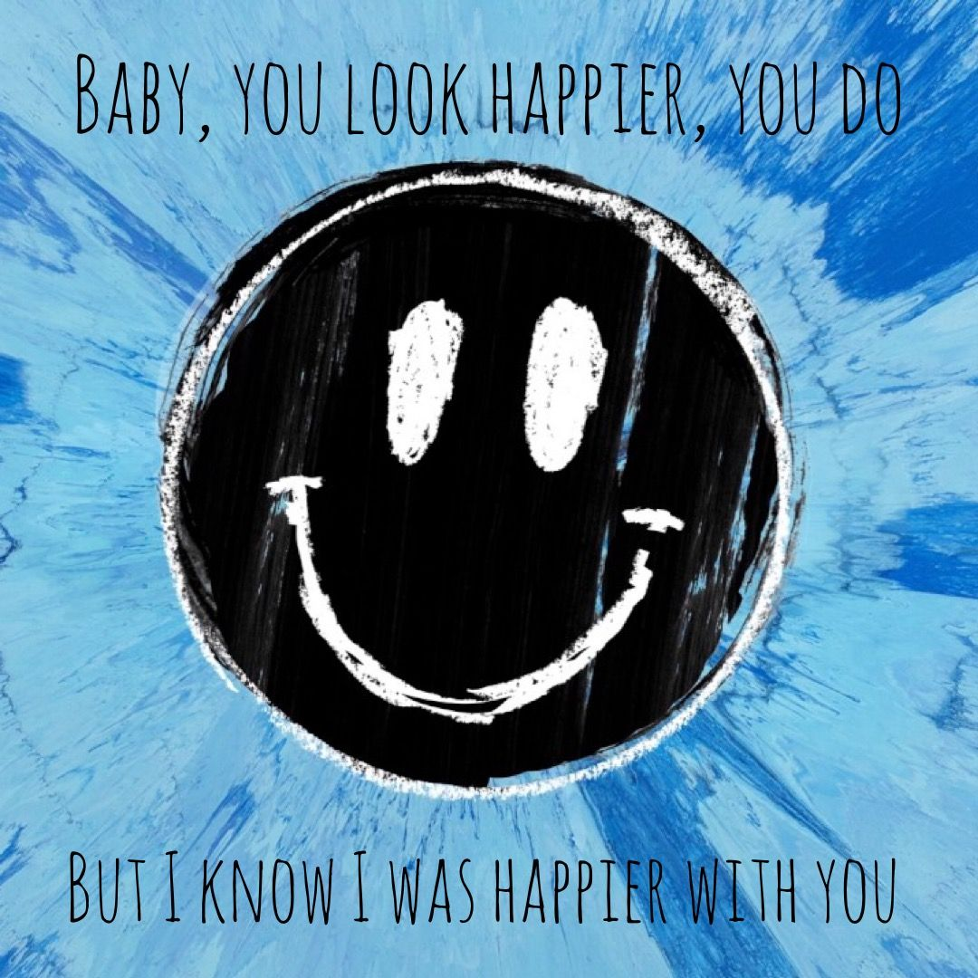 Lyrics by Ed Sheeran - Happier from his album #Divide