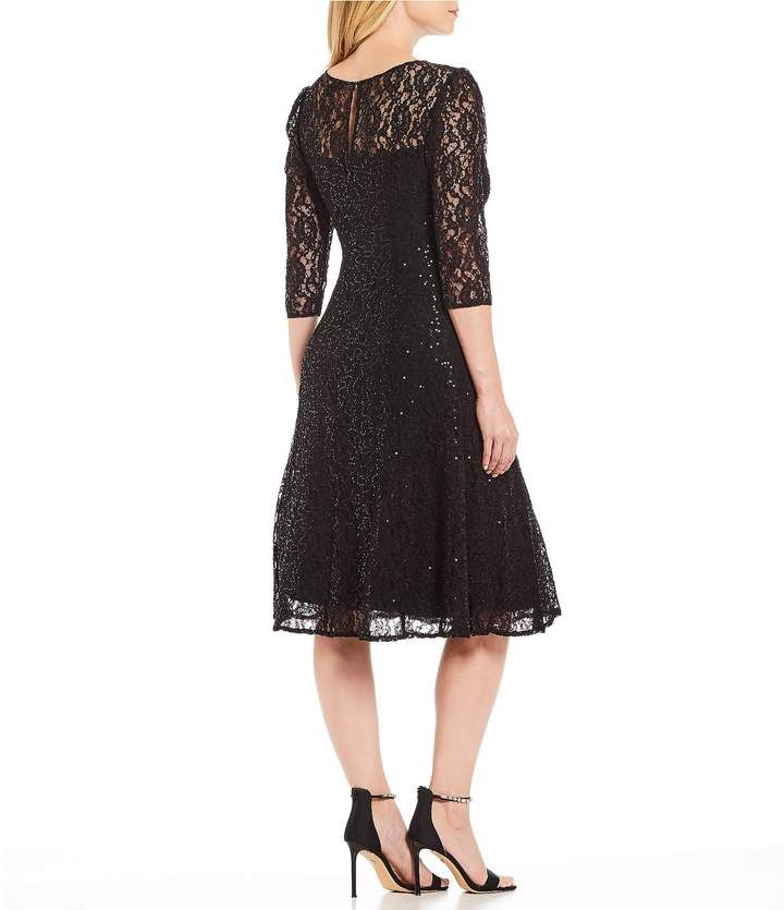 4d7e090ccbd Ignite Evenings Sequin Lace Midi Dress  Sequin Evenings Ignite ...