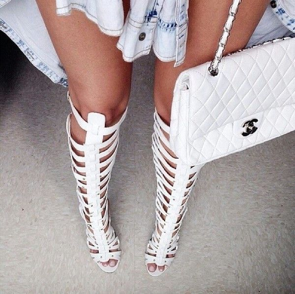 Xena Gladiator Heels - White | White