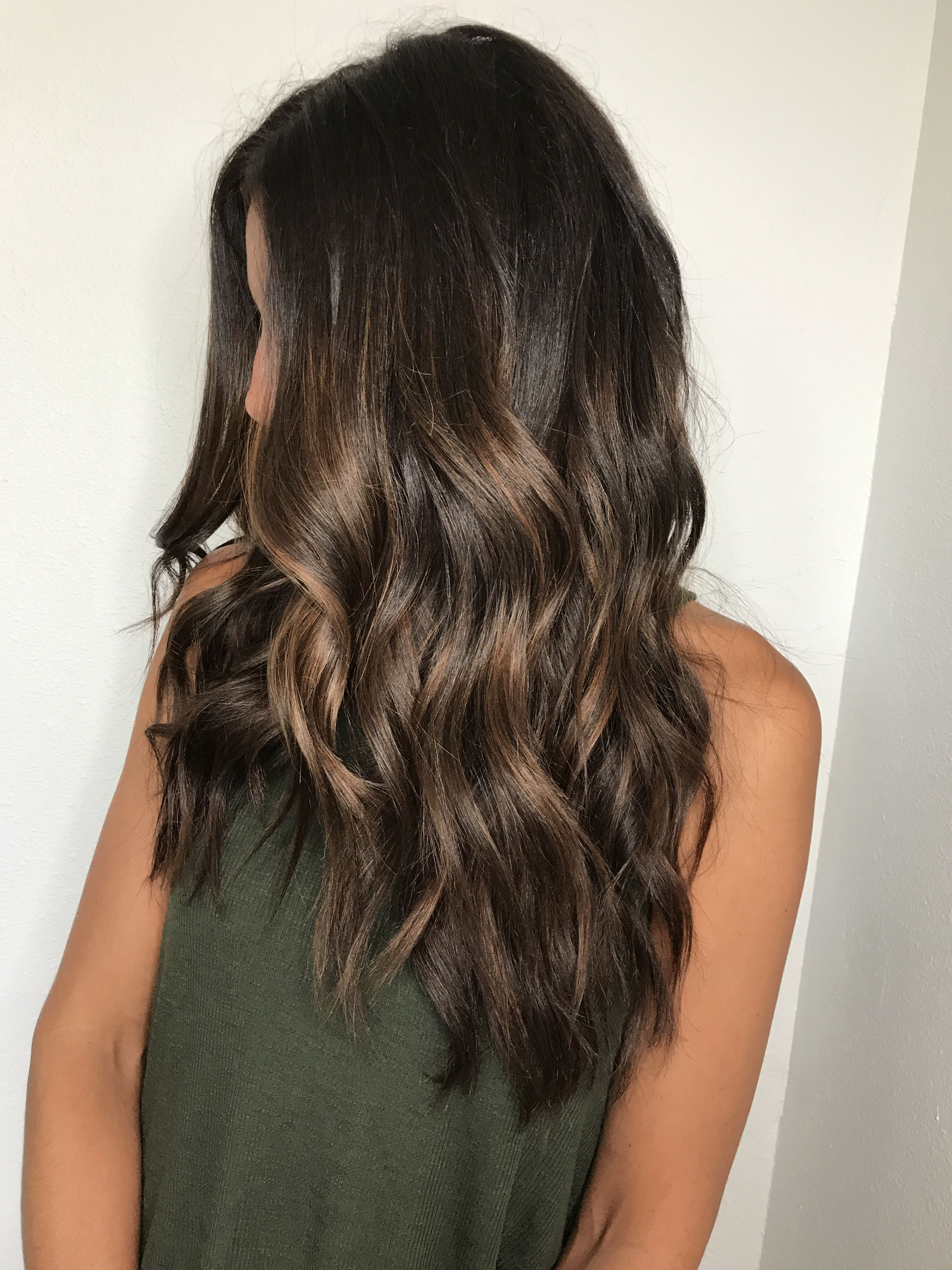Brown Balayage Rich Brunette Painted Hair Caramel