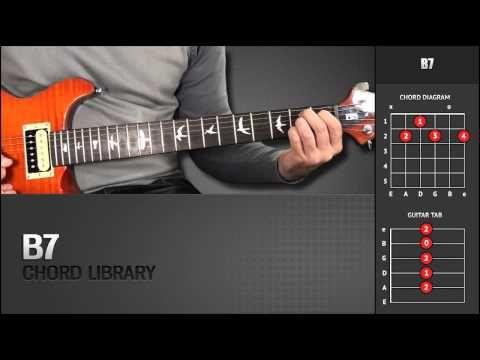 Guitar Chord Library : B Chords - B7 - YouTube | Guitar Chords - \