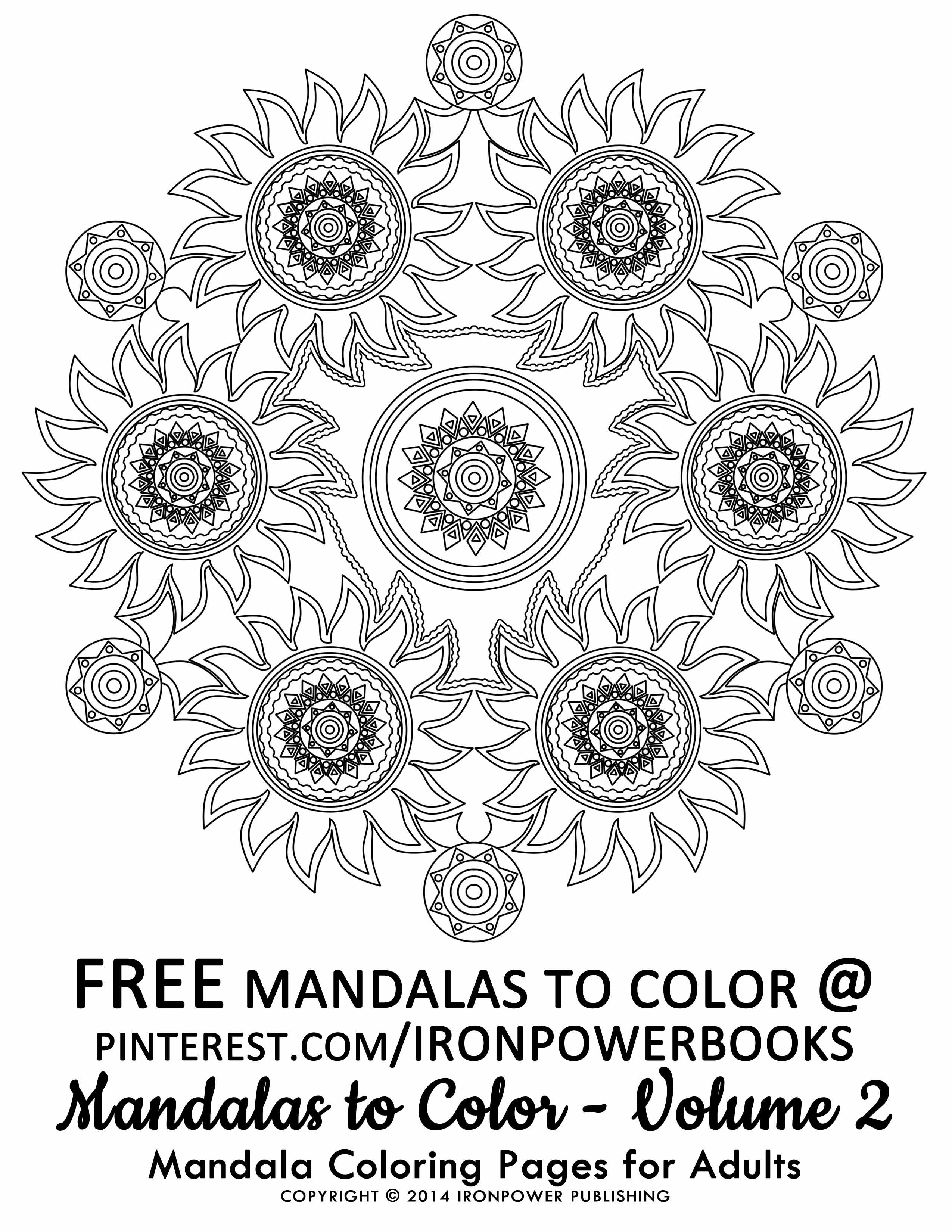 Art Therapy Mandalas to Color for Adults FREE Printable Advanced