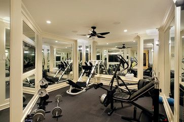 Winnetka private residence contemporary home gym chicago