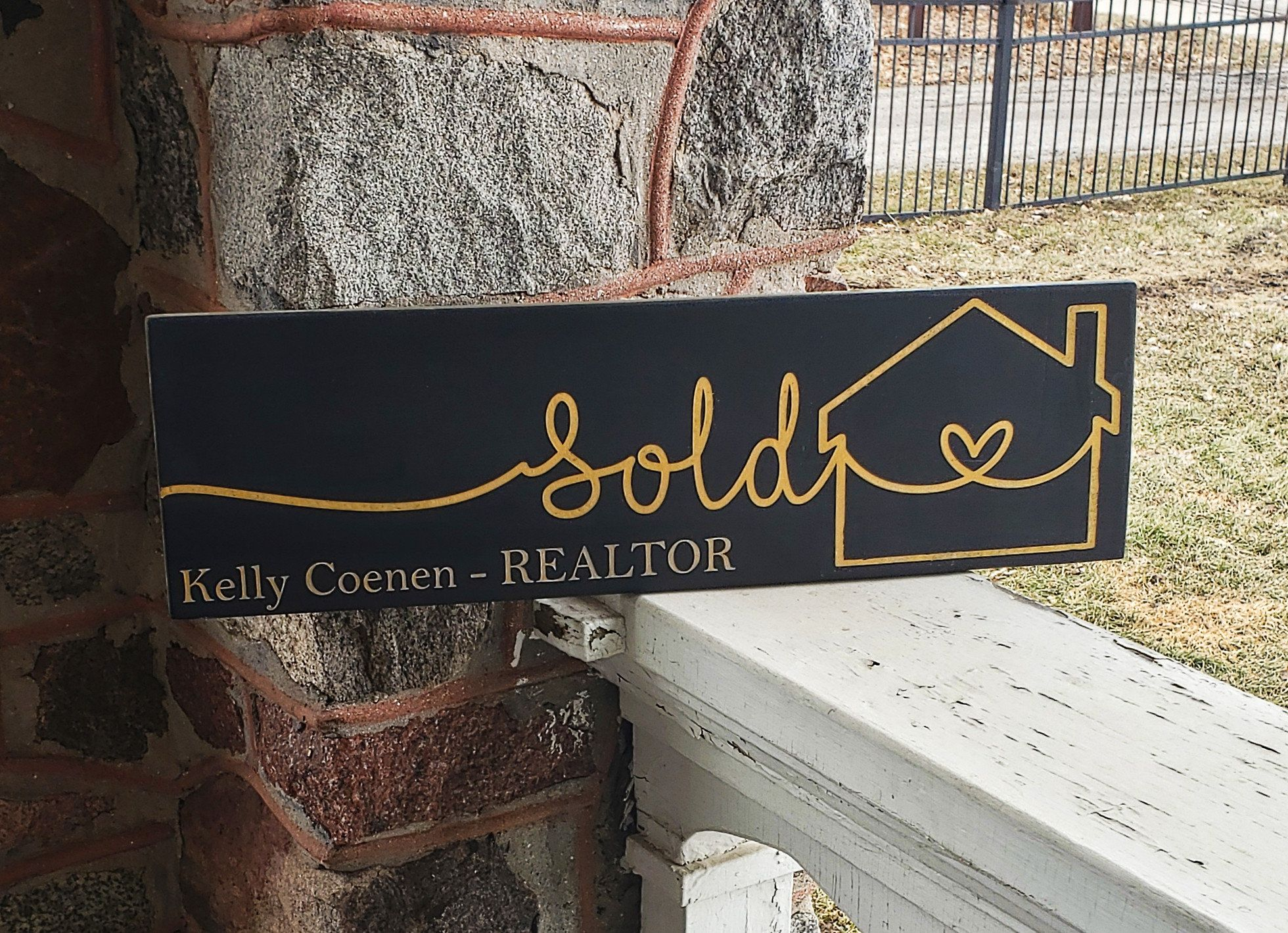 Sold Sign Photo Prop Real Estate Agent Buying And Selling Personalized Custom Sold Sign Realtor