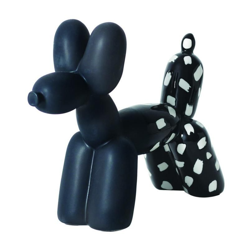 Black white big top balloon dog bookend balloon dog