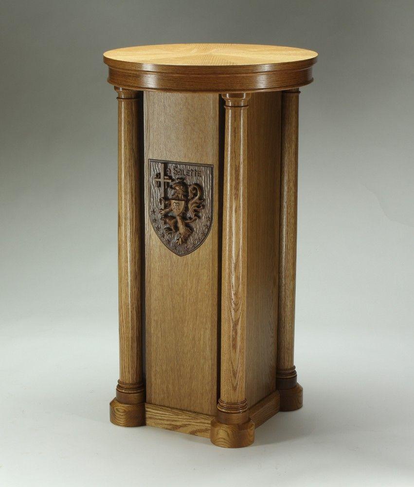 Altare Design For Lion Statue Pedestal Custom Woodworking Portfolios Wood Crafts