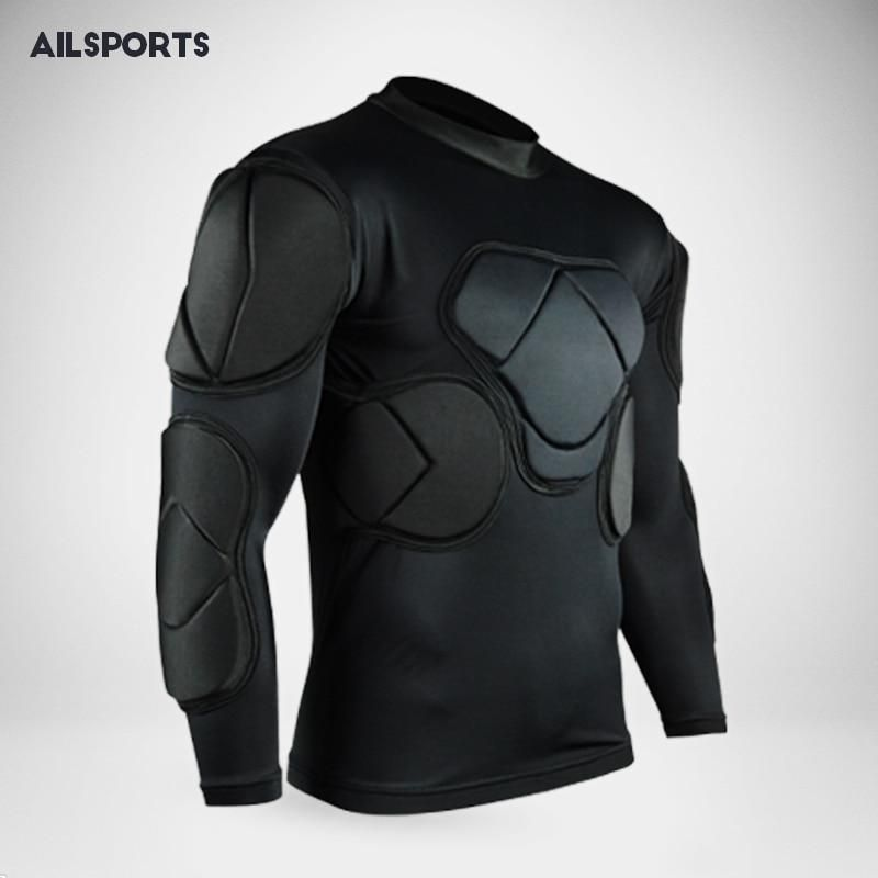 Rugby Soccer Jerseys Goalkeeper Jackets America Football Jersey Thicken Defend Shirts Vest Eva Sponge Waist Chest Elbow Knee Pad Football Outfits American Football Jersey Goalkeeper