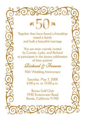 50th anniversary invitations - Google Search   50th anniversary ...
