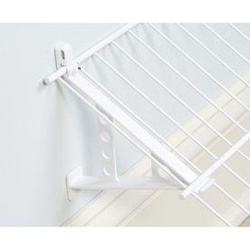 An Angled Shelf For Can Goods Rubbermaid 2 Pack 8 H X 1 W White Wire Shoe Shelf Brackets 4 27 At Lowes Shoe Shelf Shelves Garage Shoe Storage