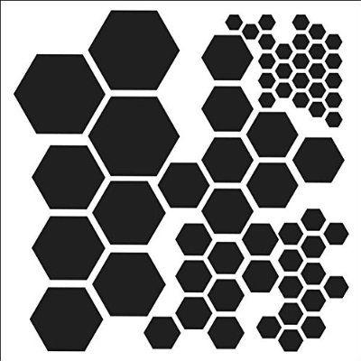 Crafteru0027s Workshop Templates 6 - deko ideen hexagon wabenmuster modern