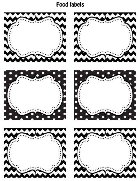 Free Black White Printable Labels Etiquetas Para Frascos